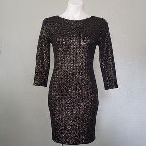NWT Black Sparkle Mini Dress